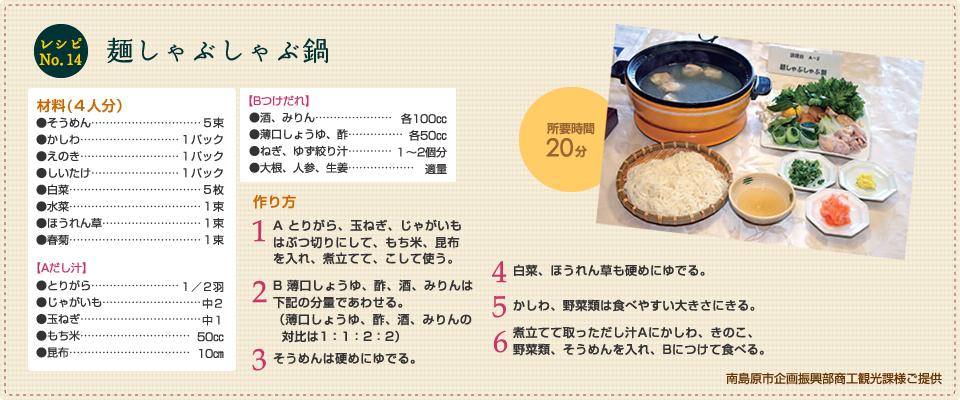 麺しゃぶしゃぶ鍋
